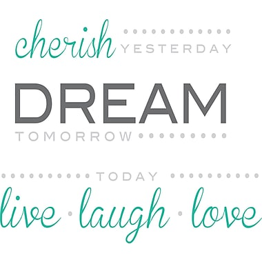 WALL POPS!® Wall Words, Cherish, Dream, Live, 14 Stickers