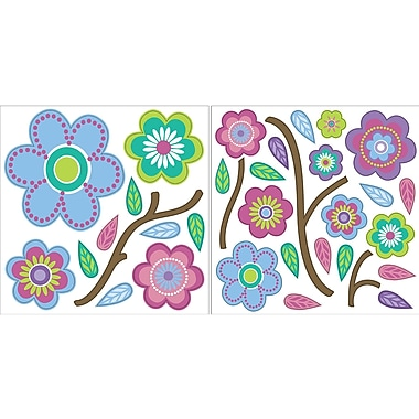 WALL POPS!® Mini Pops Wall, Cutsie Blooms, 64 Stickers