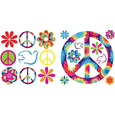 WALL POPS!® Mini Pops Wall, Tie-Dye Peace, 37 Stickers