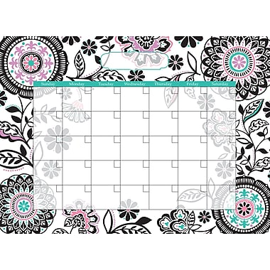 WALL POPS!® Dry-Erase Monthly Calendar, Floral Medley, 13