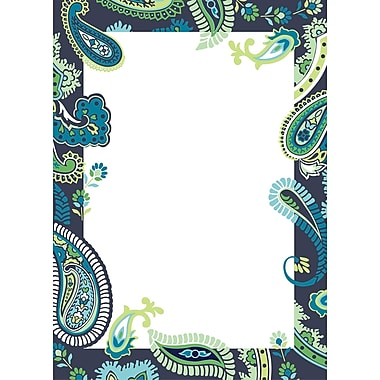 WALL POPS!® Dry-Erase Message Board, Paisley Blue & Green, 13