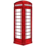WALL POPS!MD – Décalcomanie murale à effacement sec Novelty, cabine téléphonique londonienne, 4 autocollants