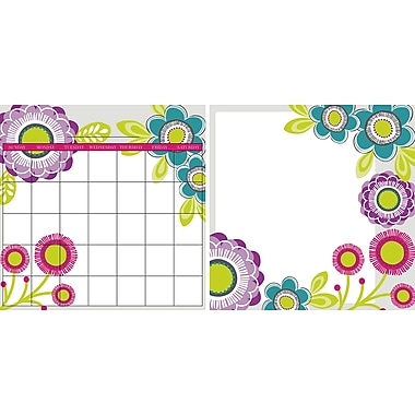 WALL POPS!® Dry-Erase Monthly Calendar & Writing Memo Combo Pack, Poppies, 13