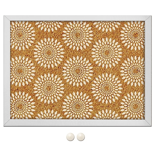 WallPops Catalina Printed Cork Board 17 x 23.5 x 1 White & Off-White (HB0689)