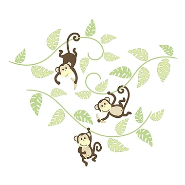 WALL POPS!® Large Wall Art Kit, Monkeying Around, 36 Stickers