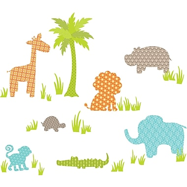 WallPops!MD – Trousse d'art mural grand format, Amis de la jungle, 41 autocollants