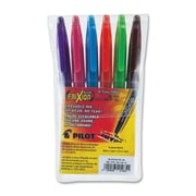 Pilot® FriXion Erasable Gel Ink Rolling Point Pens, 0.7mm, 6-Colour