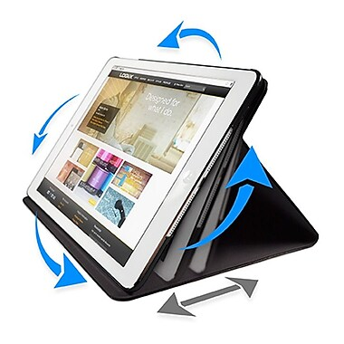 Logiix - Étui Folio pivotant Axis (LGX-10678) pour iPad Air, noir