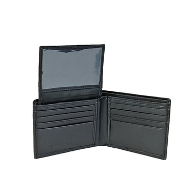 Champs Leather Bifold Wallet with Top Removable Card Holder, Black