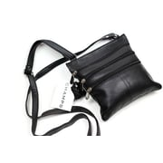 Champs Leather Sling Bag, Black