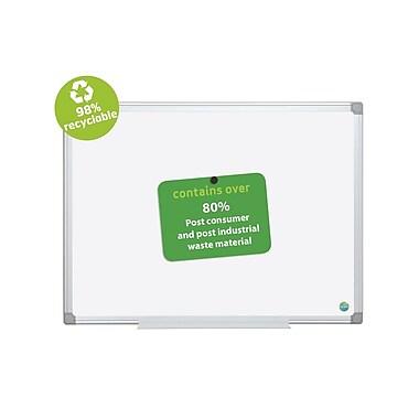 MasterVision - Tableau à effacement à sec argenté Earth, nettoyage simple, cadre en aluminium, 48 po x 36 po