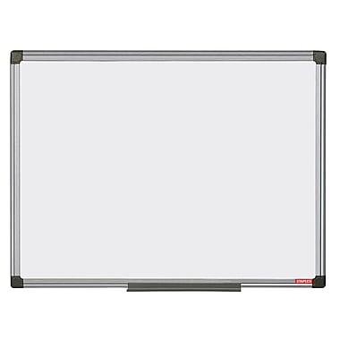 Staples Magnetic Porcelain Dry-Erase Board, Aluminum Frame, 35