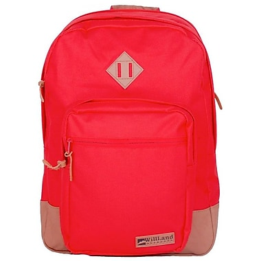 WillLand Outdoors – Sac à dos 40L College Luminosa Forte, rouge