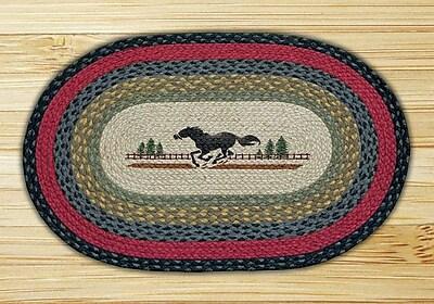 EarthRugs Horse Printed Area Rug