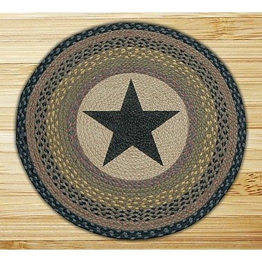 EarthRugs Black Star Printed Area Rug