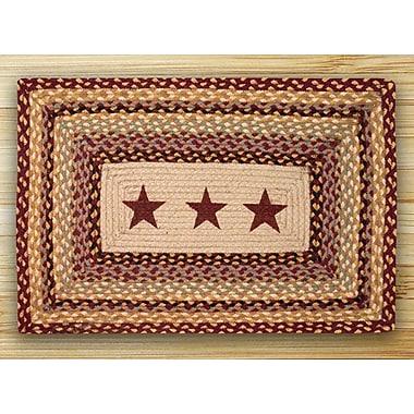 EarthRugs Burgundy Stars Printed Area Rug; Rectangle 2'3'' x 3'9''