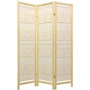 Oriental Furniture 72'' x 42'' Pockets Shoji 3 Panel Room Divider