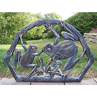 Oakland Living Frogs Aluminum Wall Mounted Hose Holder; Antique Pewter