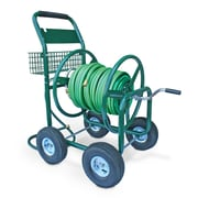 Liberty Garden Residential and Industrial 4 Wheel Metal Hose Reel Cart