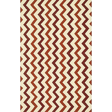 Dann Foley Palm Springs Hand-Hooked Red/Rust Indoor/Outdoor Area Rug; Rectangle 5' x 7'6''