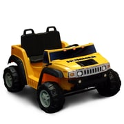 Kidz Motorz Hummer H2 12V Battery Powered Jeep; Yellow