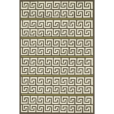 Dann Foley Palm Springs Hand-Hooked Brown/Green Indoor/Outdoor Area Rug; Rectangle 9'3'' x 13'