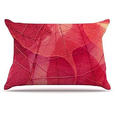 KESS InHouse Delicate Leaves Pillowcase; King
