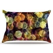 KESS InHouse Warm Sparkle Pillowcase; Standard