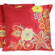Novica The Seema Applique Pillow Cover (Set of 2)