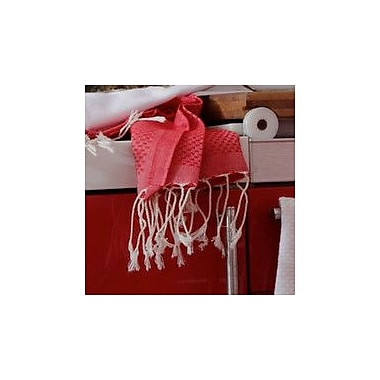 Scents and Feel Fouta Honeycomb Weave Hand Towel; Red