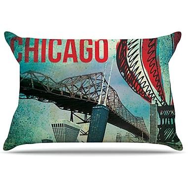 KESS InHouse Chicago Pillowcase; King