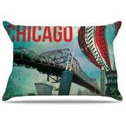 KESS InHouse Chicago Pillowcase; Standard