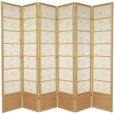 Oriental Furniture 83.5'' x 86'' Botanic Shoji 6 Panel Room Divider; Natural