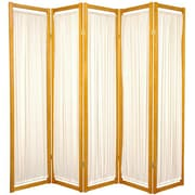 Oriental Furniture 72'' x 70'' Helsinki Shoji 5 Panel Room Divider; Honey