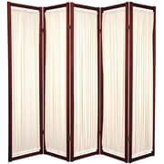 Oriental Furniture 72'' x 70'' Helsinki Shoji 5 Panel Room Divider; Rosewood