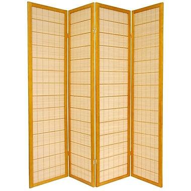 Oriental Furniture 72'' x 56'' Kimura Shoji 4 Panel Room Divider; Honey