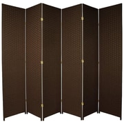 Oriental Furniture 84'' x 96'' 6 Panel Room Divider; Dark Mocha