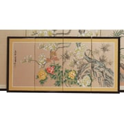 Oriental Furniture 18'' x 36'' Harmony 4 Panel Room Divider