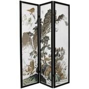 Oriental Furniture 72'' x 42'' Asian Landscape 3 Panel Room Divider