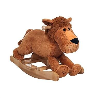 Happy Trails Ride On Plush Rocking Leo Lion