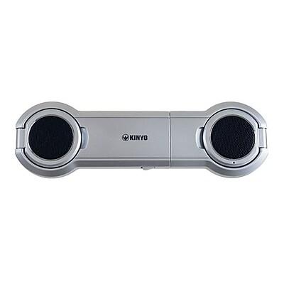 Kinyo® 72-NB100 2.0 True Digital USB Laptop Speaker, Silver