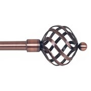"Lavish Home 3/4"" Twisted Sphere Curtain Rods"