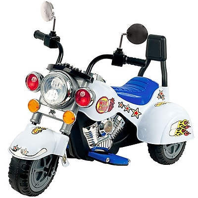 Lil' Rider Three Wheeler Knight Motorcycle, White 237824