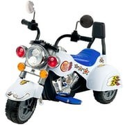 Lil' Rider Three Wheeler Knight Motorcycle, White