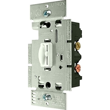 Lutron® Qoto™ 600 W 3 Way Wall Dimmer With Switch, White