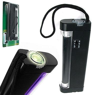 Stalwart™ 2-In-1 UV Torch Light and UV Counterfeit Money Detector, Black