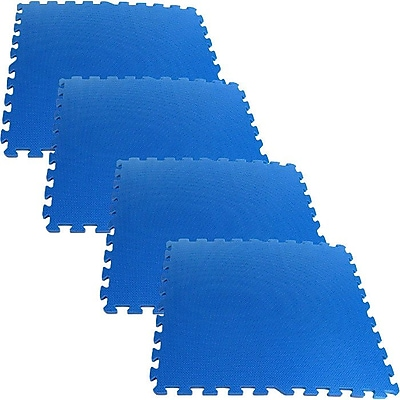Stalwart™ 2' x 2' Ultimate Comfort Foam-rubber Flooring, Blue