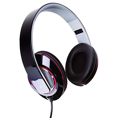 Sunbeam 72-SB540 Stereo Bass Foldable Headphone with Mic, Black