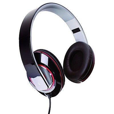 Sunbeam® 72-SB540 Stereo Bass Foldable Headphone, Black