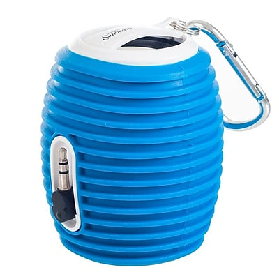 Sunbeam® 72-SB554 2 W Rechargeable Portable Speaker With Cable, Blue